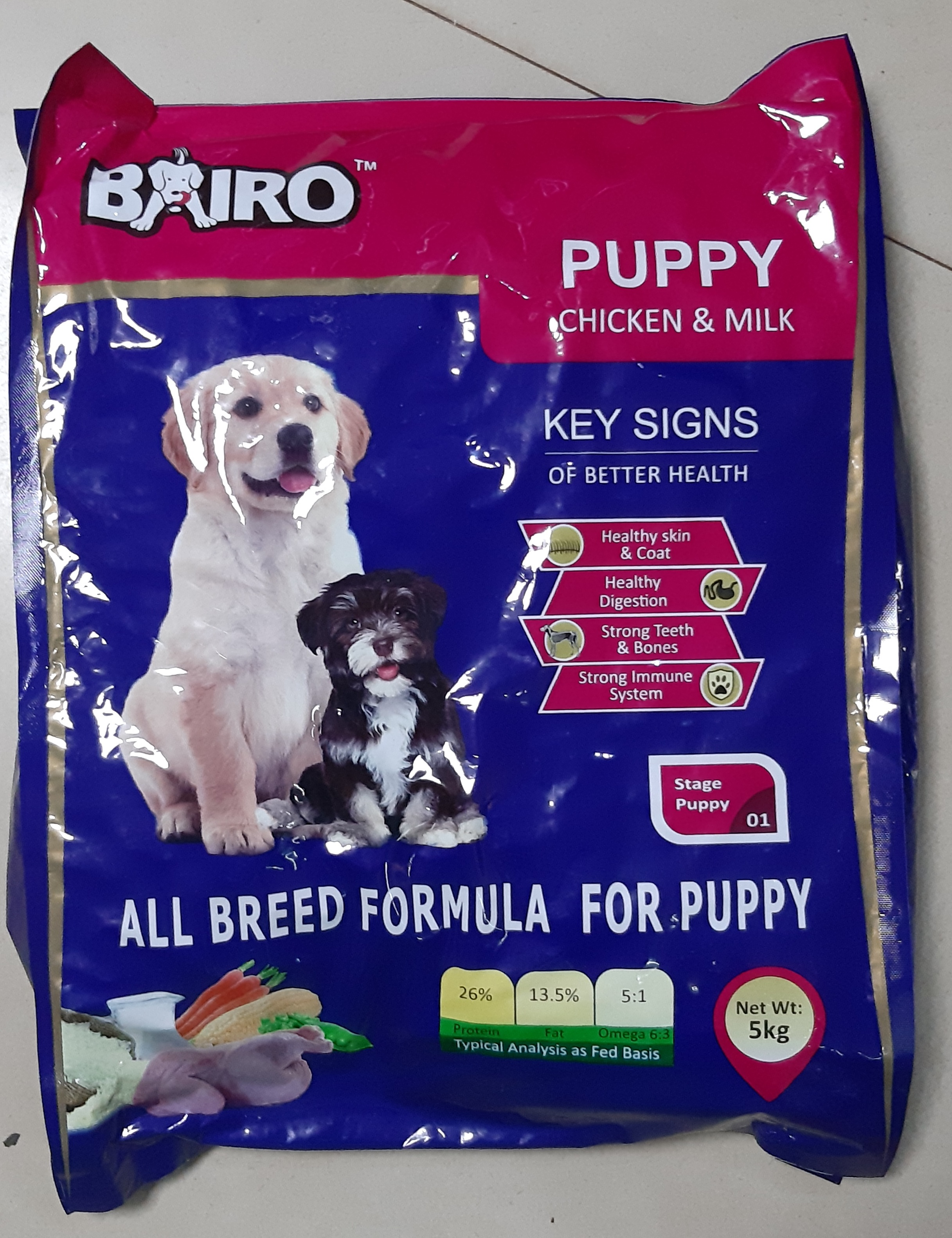 BAIRO puppy chicken and milk (5Kg)