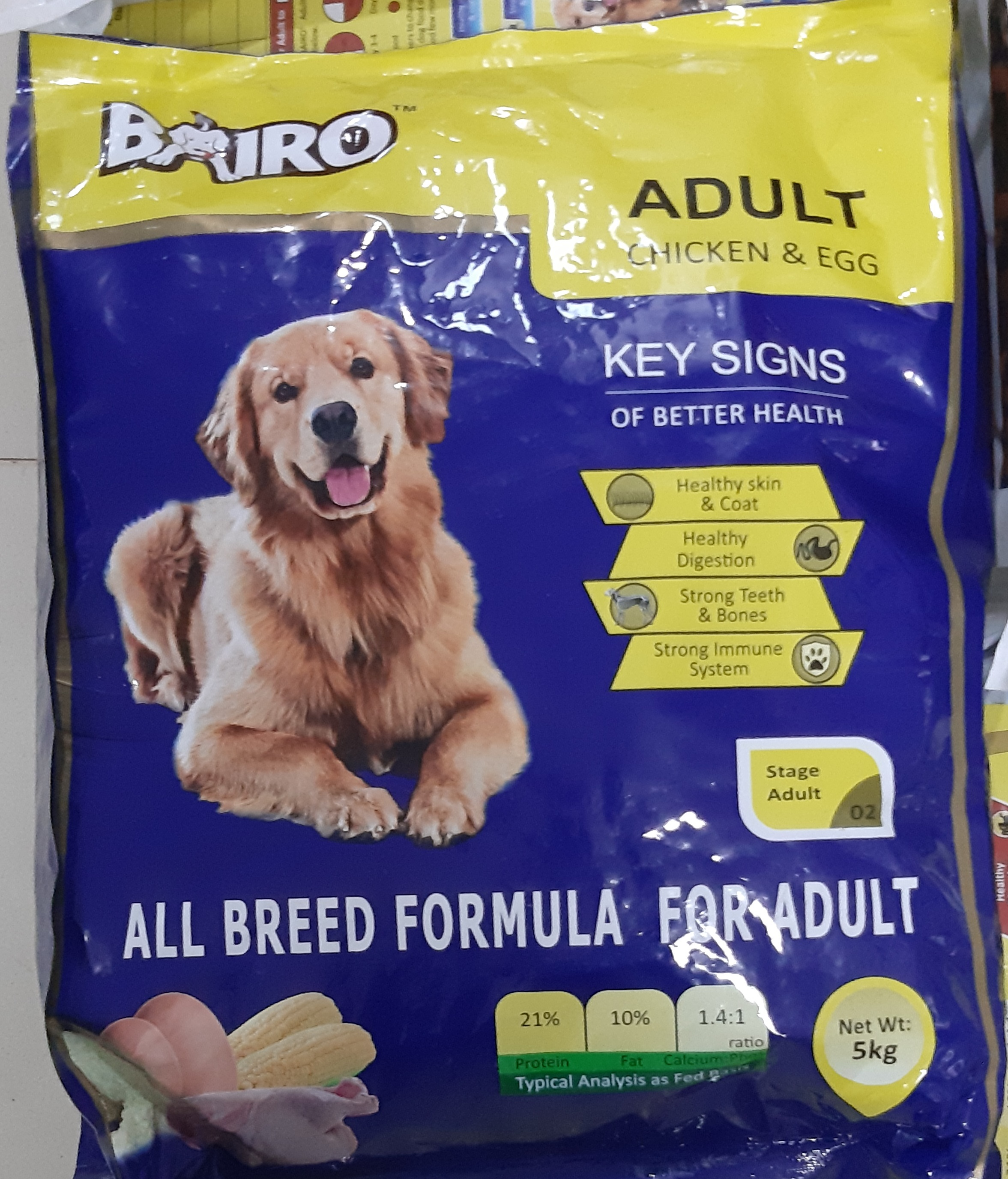 BAIRO adult chicken and eggs (5Kg)