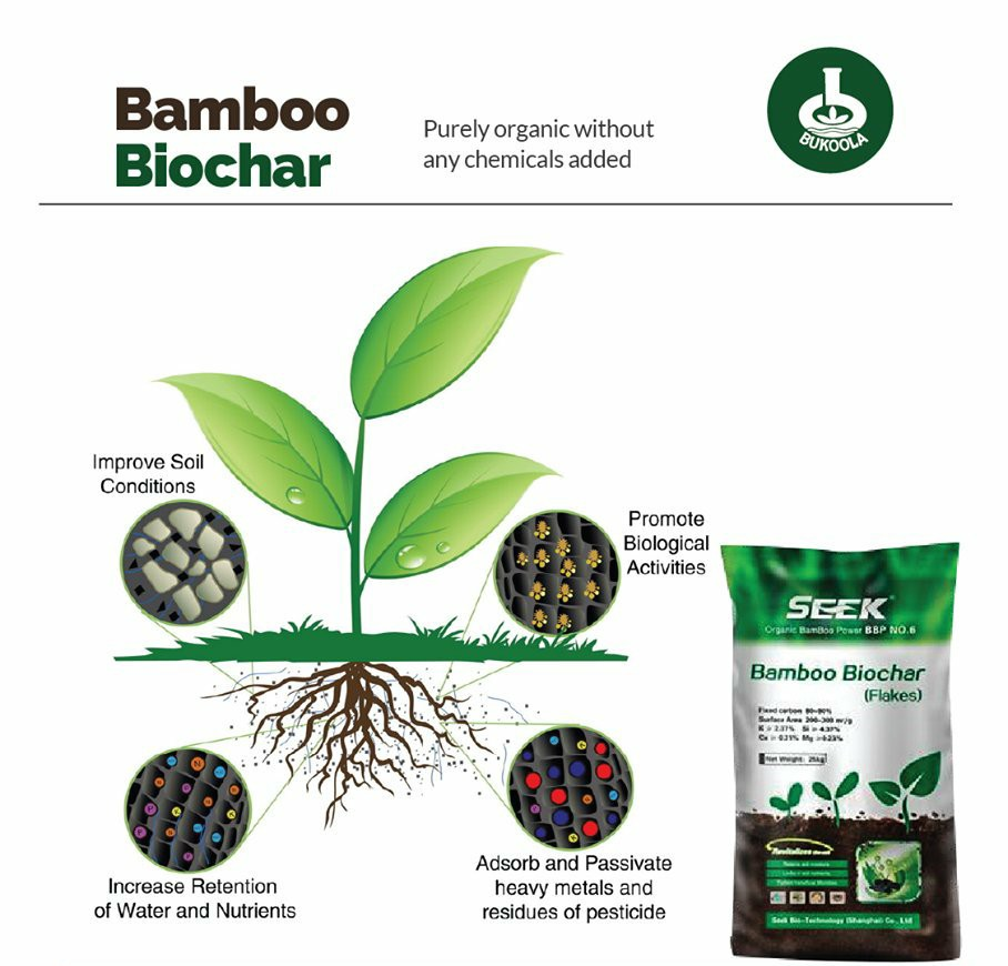 Seek Bamboo Biochar organic fertilizer (25Kg)